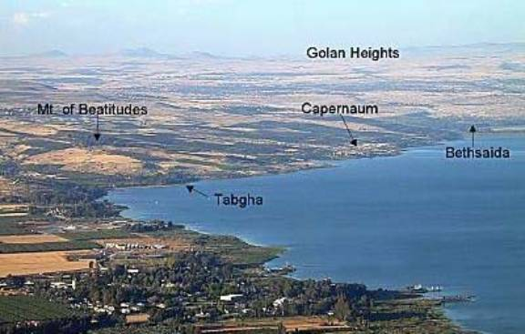 Shore of the northern end of the Sea of Galilee. Photo copyrighted, BiblePlaces.